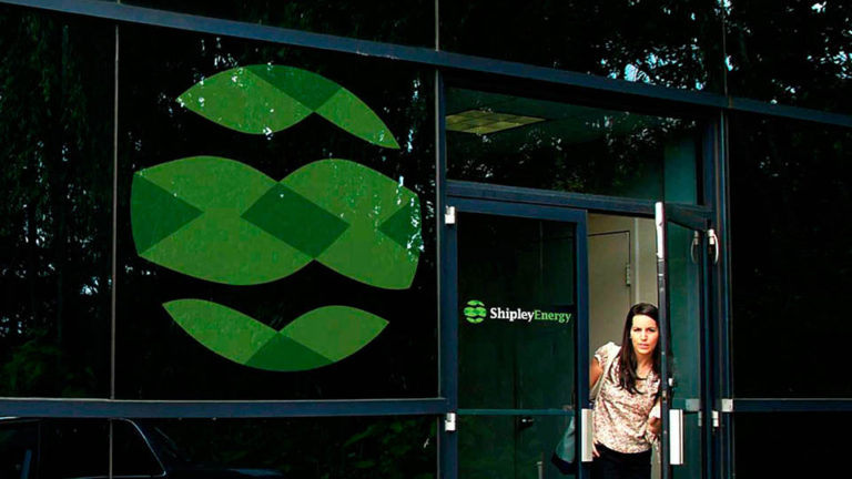 Shipley Energy Corporate Headquarters Signage, Rebrand Russell Volckmann, Bob Wolf