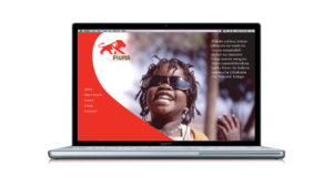 Branding, Digital Design, Website Design, Brand and Identity Design for AIDS Movement, Piuma Tanzania Logo White Lion on Red Background Symbol