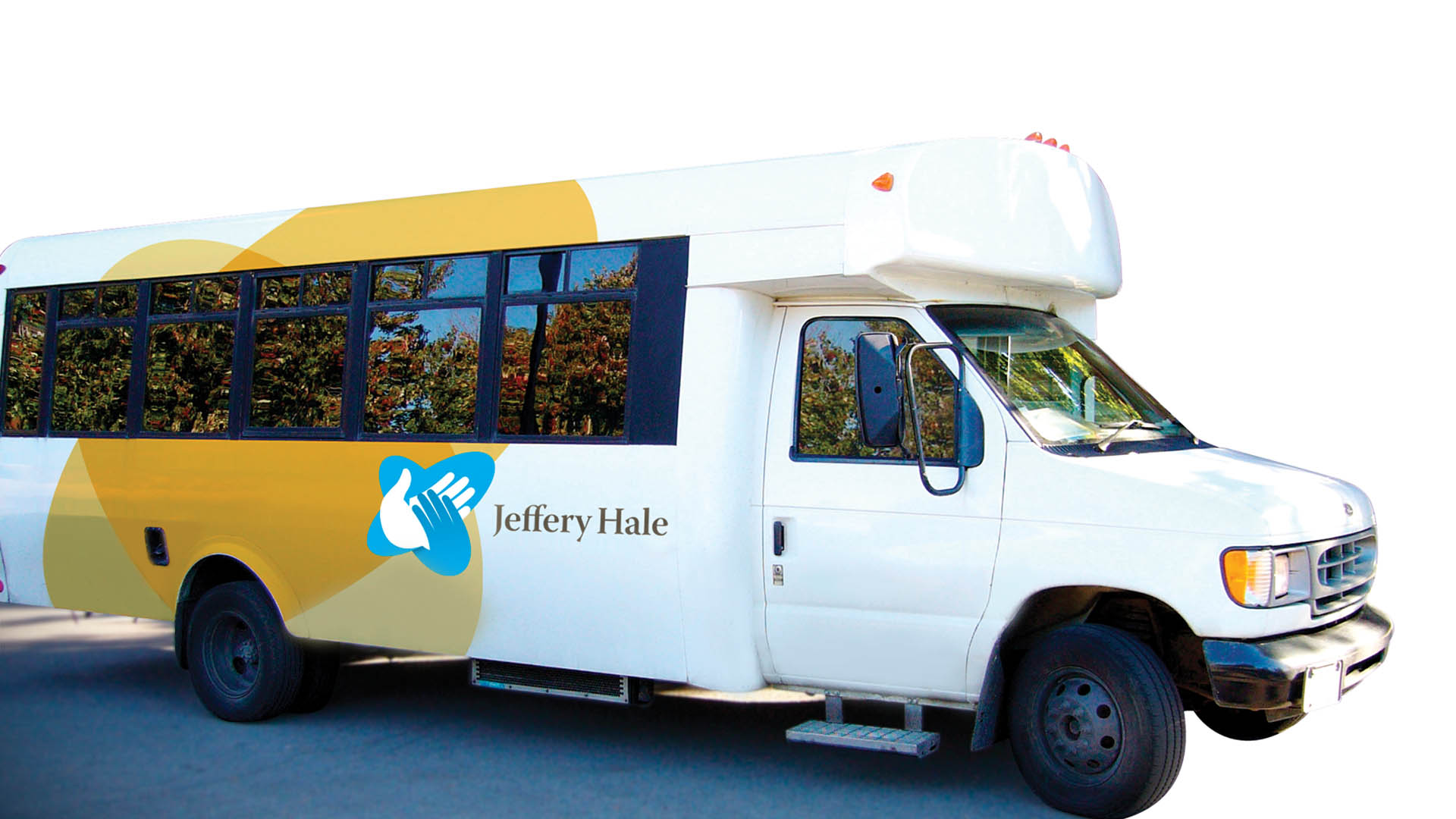 Jeffrey Hale Hospital fleet and vehicle, bus, van, design, brand identity, brand experience