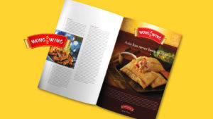 Wong WIng Asian Packaged Foods, Chinese Food, Magazine Award, Advertising, Fast Consumer, McKay, rebranding, branding and identity, brand strategy, story platform