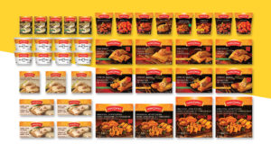 Wong Wing food packaging redesign across entire product line